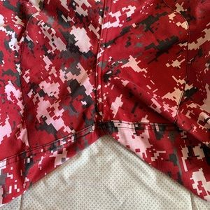 Jeans - Red Camouflage Cargo Pants